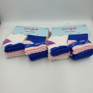 Cat and Jack Low Cut Socks, Size 12-24M.